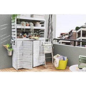 Rangement ext rieur coffre de jardin armoire leroy merlin - Meuble de rangement pour balcon ou terrasse ...