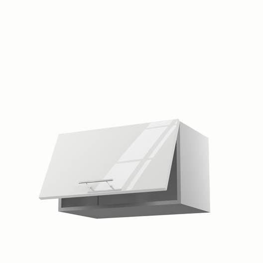 Meuble de cuisine haut blanc 1 porte Rio H.35 x l.60 x P.35 cm ...