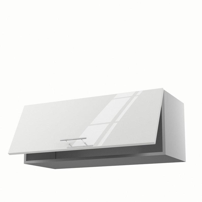 Meuble de cuisine haut blanc 1 porte Rio H.35 x l.90 x P.35 cm ...