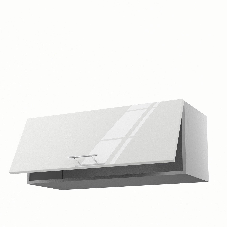 meuble de cuisine haut blanc 1 porte rio h35 x l90 x p35 cm