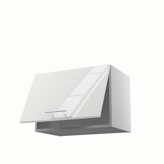 Meuble de cuisine haut sur hotte blanc 1 porte rio x for Porte 60 avis