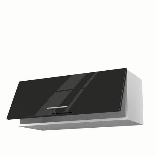 meuble de cuisine haut noir 1 porte rio x x. Black Bedroom Furniture Sets. Home Design Ideas