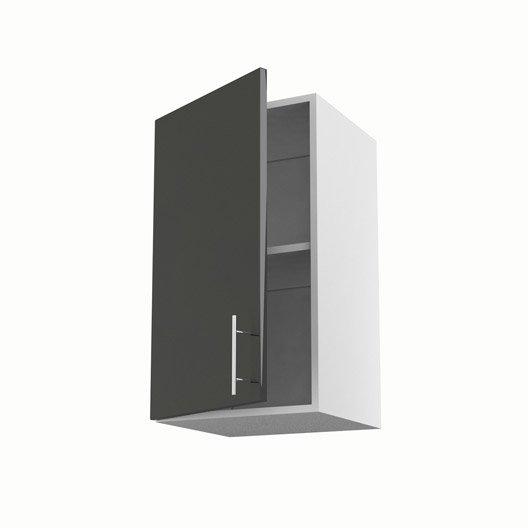 Meuble de cuisine haut gris 1 porte rio x x - Meuble haut cuisine profondeur 30 cm ...