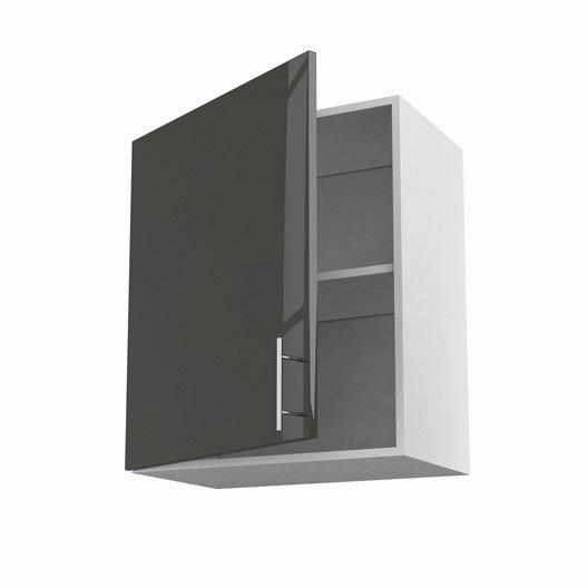 Meuble de cuisine haut gris 1 porte rio x x for Meuble cuisine 60 cm