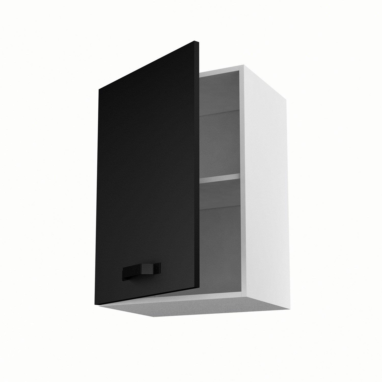 meuble de cuisine haut noir 1 porte mat edition h70 x l50 x p35 cm