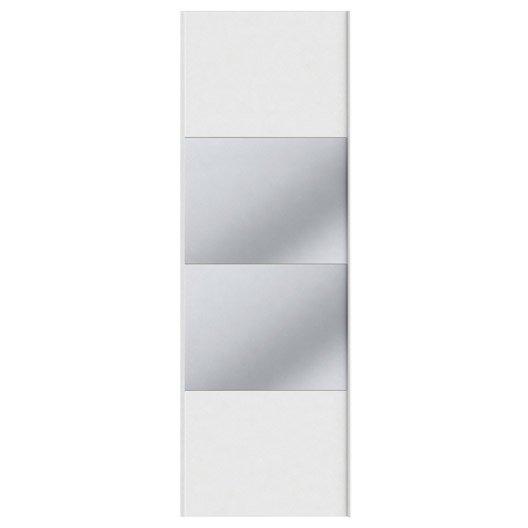 Portes coulissantes spaceo home 240 x 80 x 1 6 cm blanc leroy merlin - Porte coulissante 240 cm hauteur ...