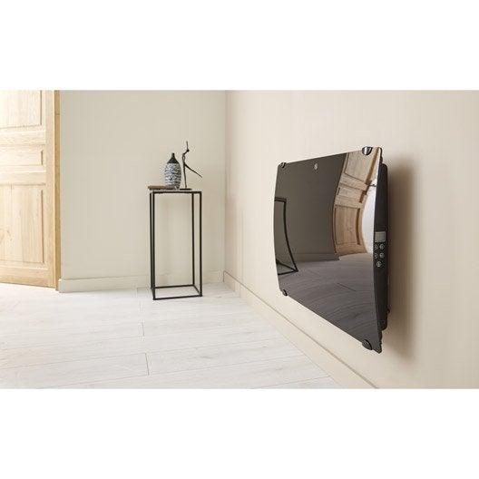 radiateur lectrique rayonnement en verre galb 1000w leroy merlin. Black Bedroom Furniture Sets. Home Design Ideas