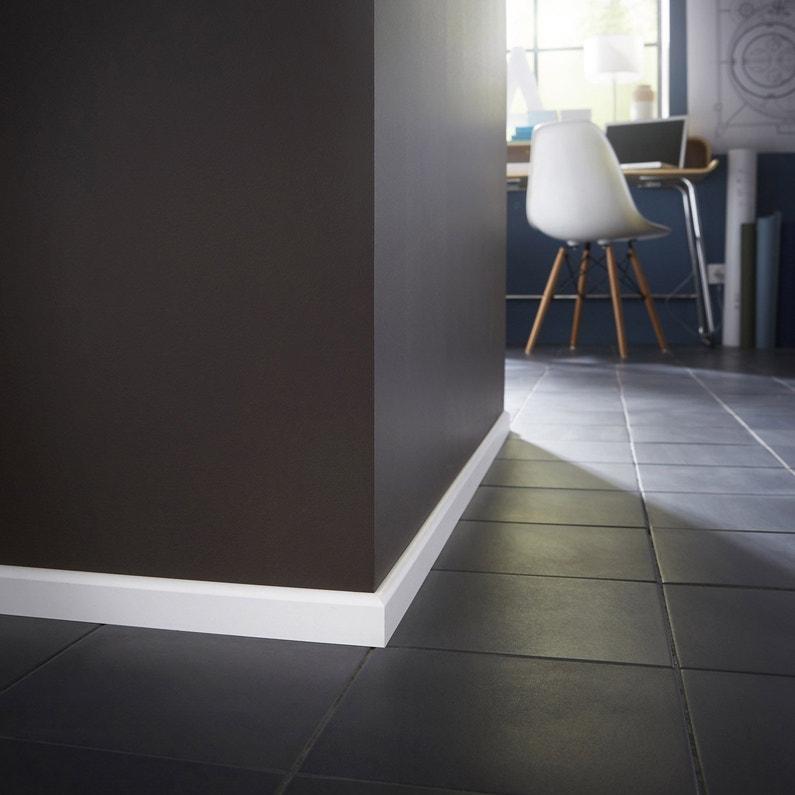 plinthe m dium mdf arrondie rev tu m lamin blanc 10 x. Black Bedroom Furniture Sets. Home Design Ideas