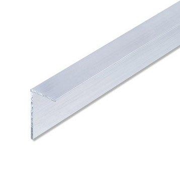 Cornière inégale aluminium brut, L.1 m x l.6.56 cm x H.3.55 cm