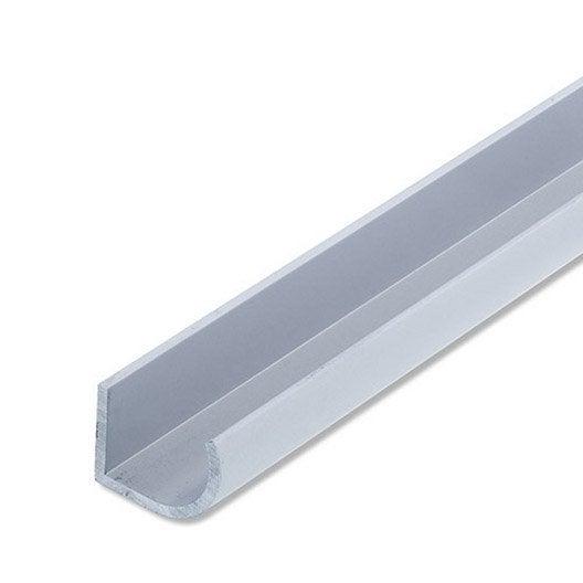poign e aluminium anodis l 1 m x l 2 5 cm x h 1 9 cm leroy merlin. Black Bedroom Furniture Sets. Home Design Ideas