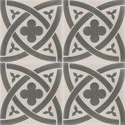 Carreau de ciment sol et mur gris clair/foncé Medieval l.20xL.20cm