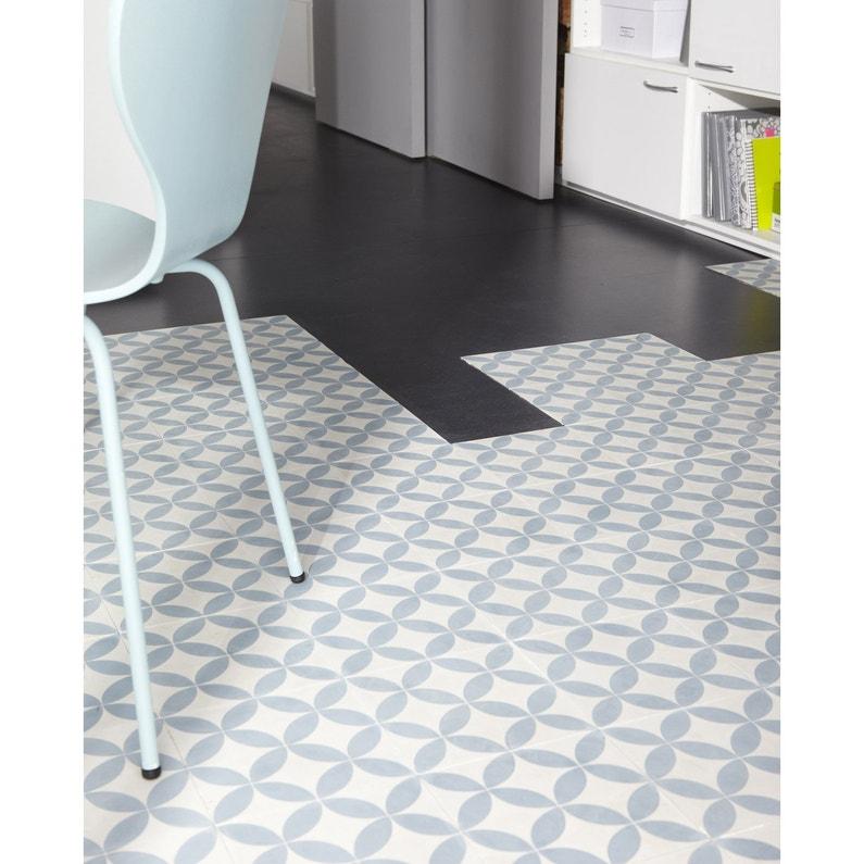 carreau de ciment sol et mur bleu et blanc palmette x cm leroy merlin. Black Bedroom Furniture Sets. Home Design Ideas