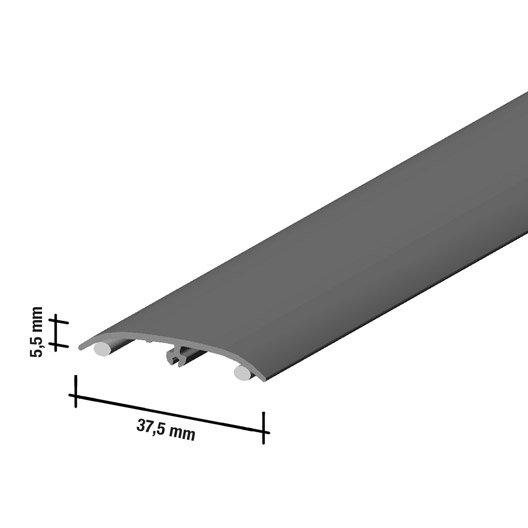 barre de seuil effet ch 234 ne galet pour sol stratifi 233 l 166 cm x l 37 mm leroy merlin