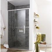 Porte de douche coulissante 117.5/120.5 cm profilé chromé, Purity3