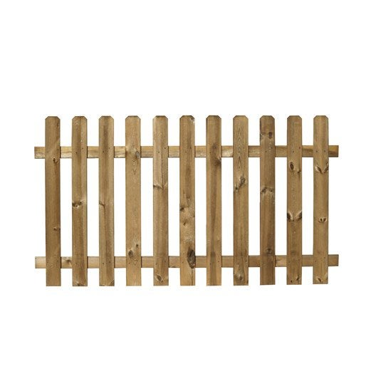 Barri re bois merens marron x cm leroy merlin for Barriere de jardin en bois