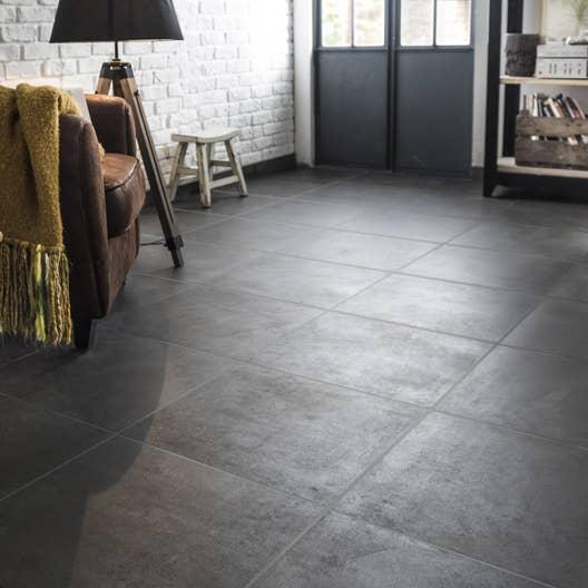 carrelage sol anthracite effet b ton alma x cm leroy merlin. Black Bedroom Furniture Sets. Home Design Ideas