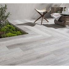Carrelage gris effet bois Way l.15 x L.90 cm