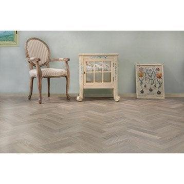 Lame PVC adhésive gris effet bois cérusé Premium clic 5g