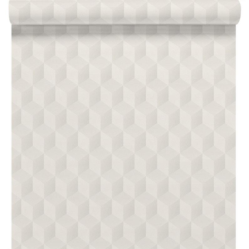 Papier Peint Intisse Square 3d Blanc