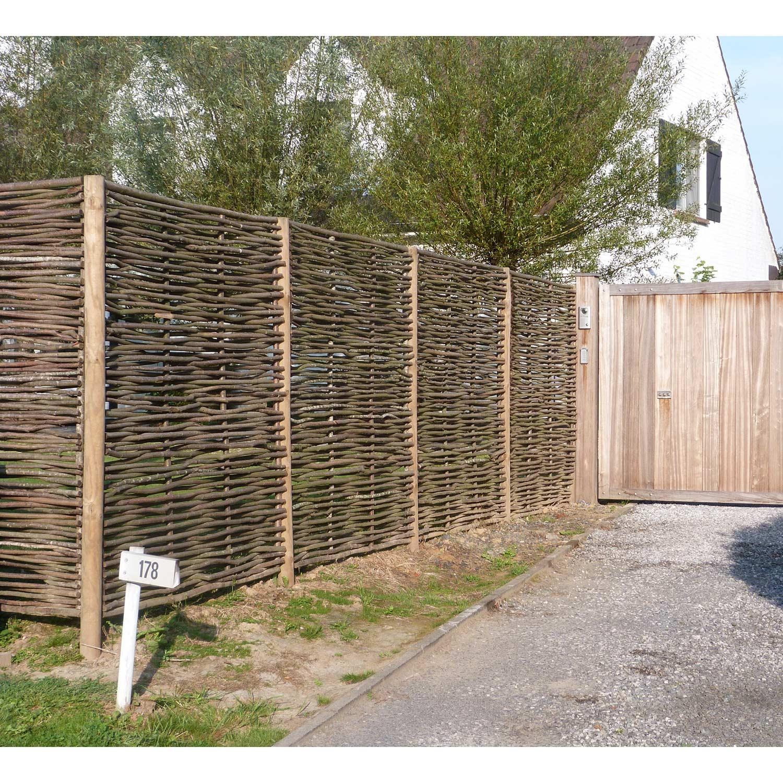 Panneau bois occultant Tressé l150 x H180 cm marron ...