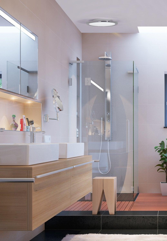 Une applique avec des cercles de led pour une touche for Applique salle de bain zen
