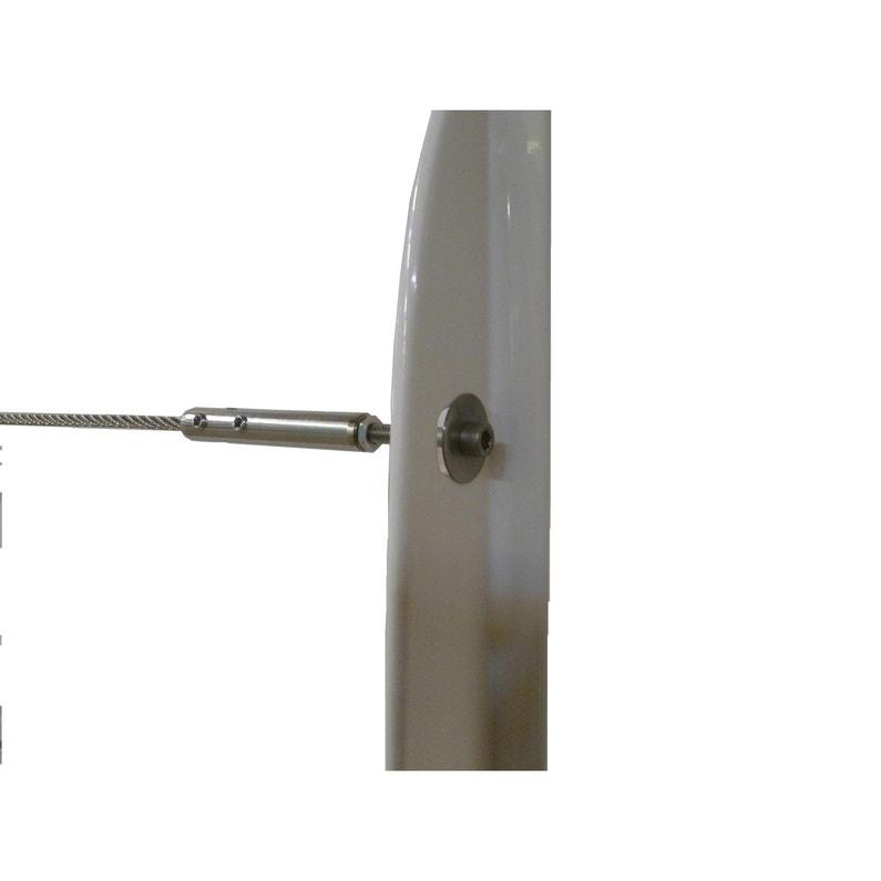 5 Départ De Câble Et Tendeurs Tieral Pour Garde Corps En Métal Gris H8 X L1cm