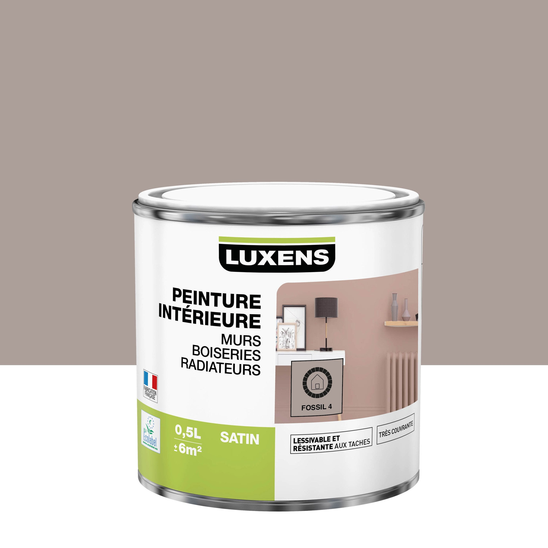 Peinture, mur, boiserie, radiateur, Multisupports LUXENS, fossil 4, satin, 0.5 l