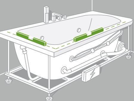 Comment installer une baignoire baln o leroy merlin for Baignoire non encastrable