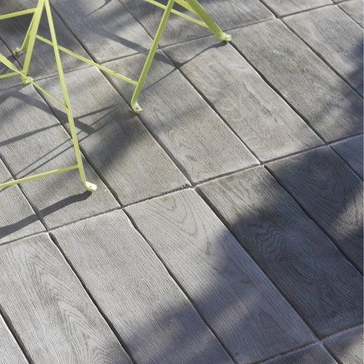 Dalle alp ge en pierre reconstitu e gris l 50 x l 50 cm x for Dalle jardin gris