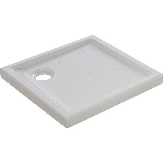 receveur de douche carr x cm gr s blanc asca2 leroy merlin. Black Bedroom Furniture Sets. Home Design Ideas
