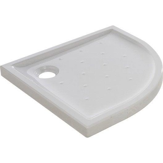 receveur de douche 1 4 de cercle x cm gr s blanc asca2 leroy merlin. Black Bedroom Furniture Sets. Home Design Ideas