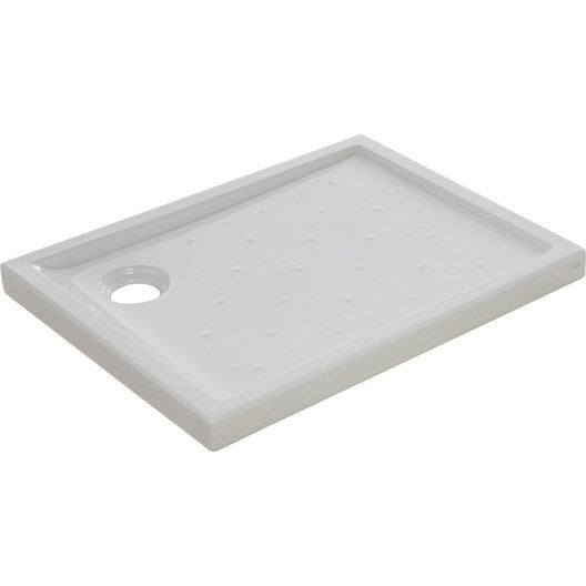 receveur de douche asca2 extra plat gr s maill rectangulaire 90 x 70 cm leroy merlin. Black Bedroom Furniture Sets. Home Design Ideas