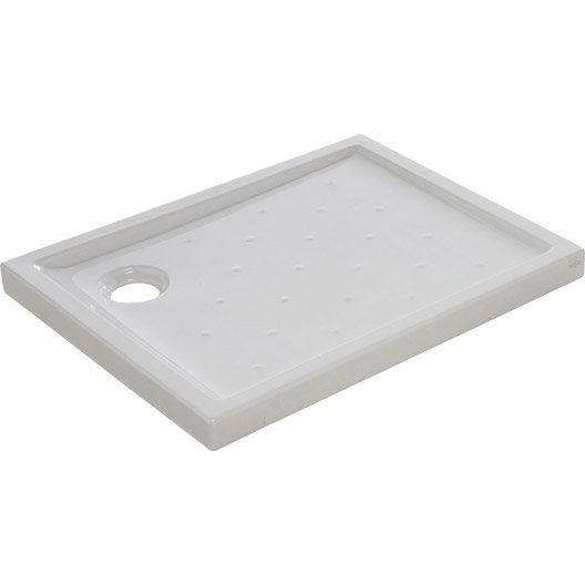 receveur de douche rectangulaire x cm gr s blanc asca2 leroy merlin