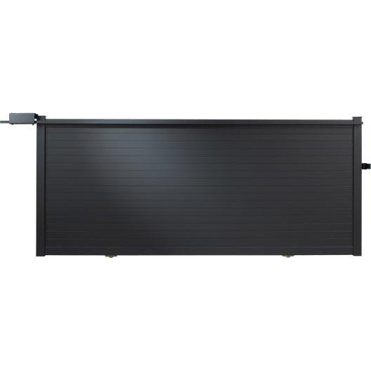 portail coulissant aluminium concarneau gris anthracite naterial x leroy merlin. Black Bedroom Furniture Sets. Home Design Ideas