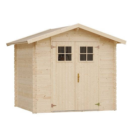 stunning abri de jardin bois hyva m ep mm with parpaing. Black Bedroom Furniture Sets. Home Design Ideas