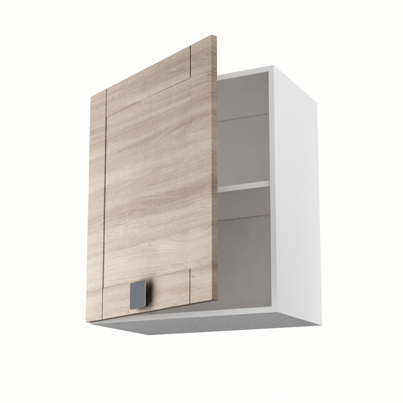 meuble de cuisine haut d cor ch ne blanchi 1 porte karrey x x cm leroy merlin. Black Bedroom Furniture Sets. Home Design Ideas