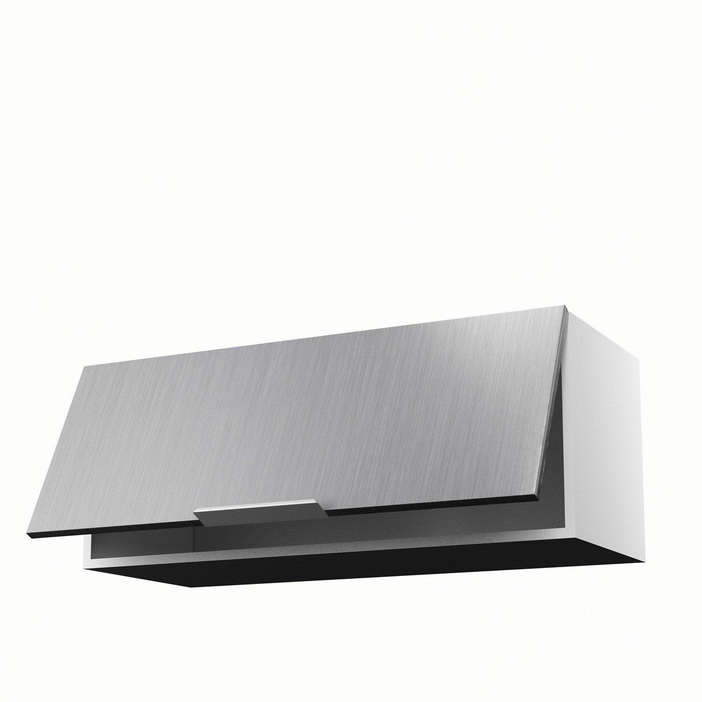 Meuble de cuisine haut décor aluminium 1 porte Stil H.35 x l.90 x ...