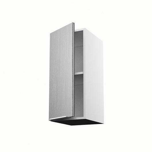 Meuble de cuisine haut d cor aluminium 1 porte stil for Meuble cuisine aluminium