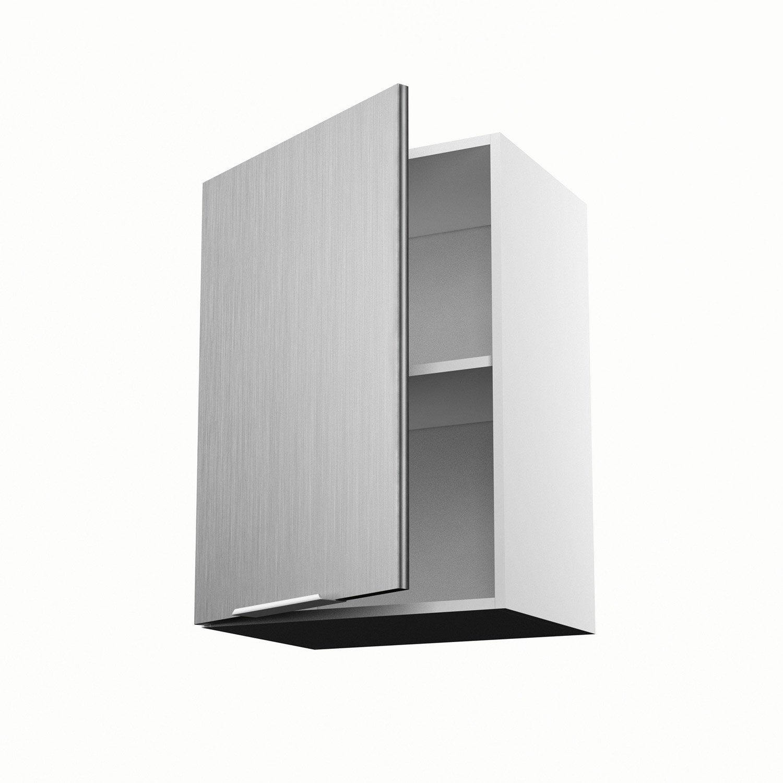 Meuble de cuisine haut décor aluminium 1 porte Stil H.70 x l.50 x P ...