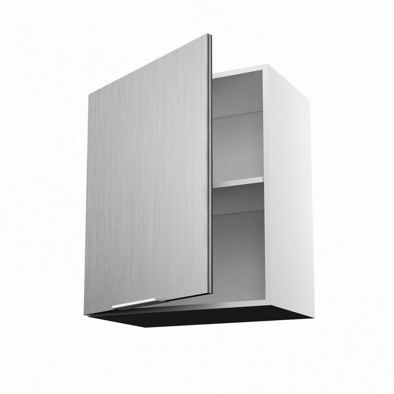 Meuble de cuisine haut décor aluminium 1 porte Stil H.70 x l.60 x P ...