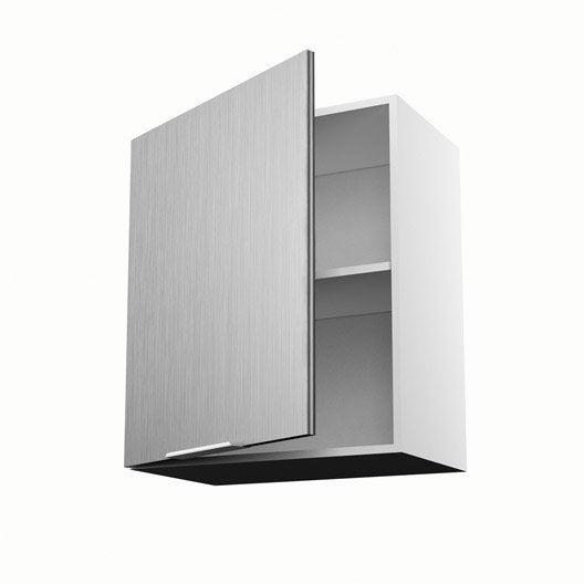 Meuble de cuisine haut d cor aluminium 1 porte stil x for Meuble 70 cm de haut