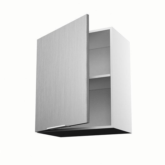 Meuble de cuisine haut d cor aluminium 1 porte stil x for Porte cuisine 60 x 30
