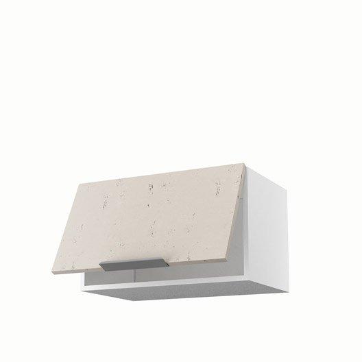 Meuble de cuisine haut d cor b ton 1 porte loft x l - Loft beton cire leroy merlin ...