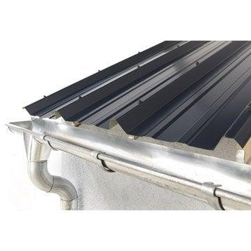 Plaque nervuré acier galvanisé bleu ral 5008 JORIS IDE l.1.05 x L.2 m, JORIS IDE