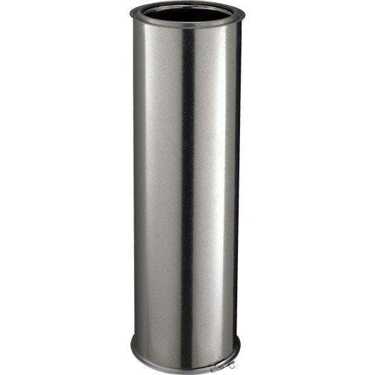 tuyau pour conduit double paroi poujoulat d180 mm m mm leroy merlin. Black Bedroom Furniture Sets. Home Design Ideas
