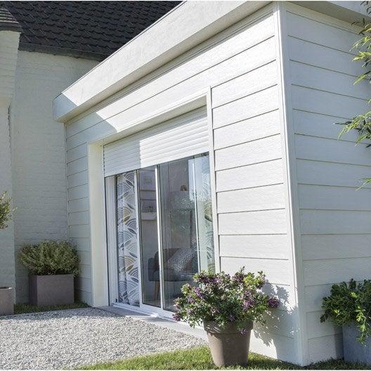 baie vitr e coulissante volet en aluminium blanc. Black Bedroom Furniture Sets. Home Design Ideas