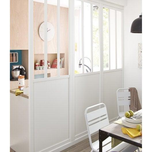 Cloison d corative pleine et vitr e atelier 80 x 240 cm - Leroy merlin cloison atelier ...