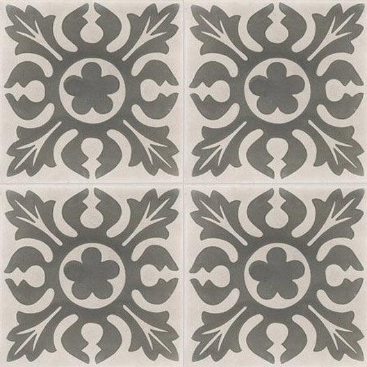 carreau de ciment sol et mur gris clair et fonc chardon. Black Bedroom Furniture Sets. Home Design Ideas