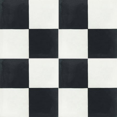 Carreau De Ciment Sol Et Mur Blanc Et Noir Damier L 20 X L 20 Cm