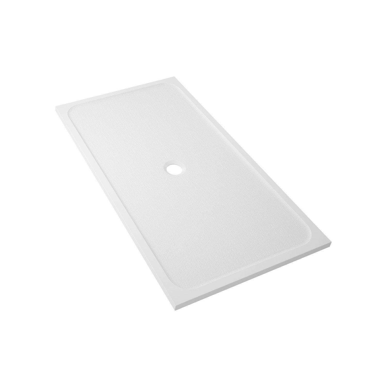 Receveur De Douche 160 X 90 receveur de douche rectangulaire l.160 x l.90 cm, résine blanc mila